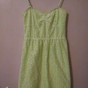 Aeropostale lime green dress.